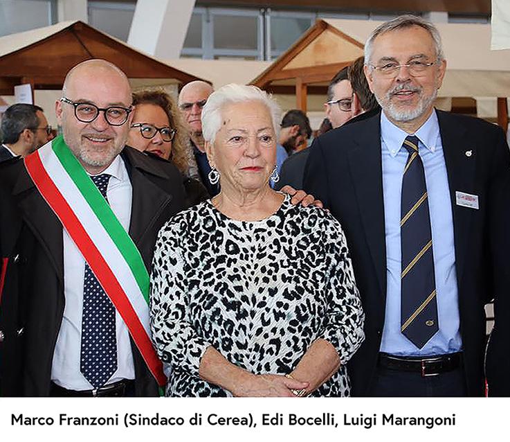 Edi Bocelli and Luigi Marangoni with the mayor Marco Franzoni at Cerea (Verona) - Pianura Golosa