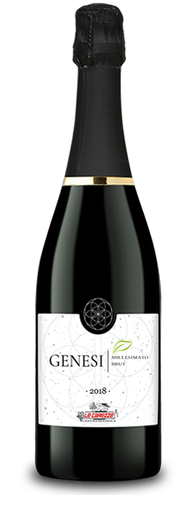 Bottiglia di vino Genesi Malvasia Brut 2018