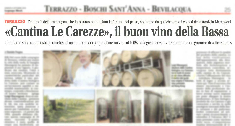 """""""Cantina Le Carezze"""", il buon vino della Bassa"""